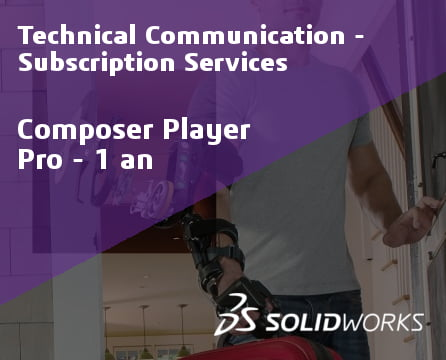 SOLIDWORKS Composer Player Pro Standalone Service Initial - 1 Year