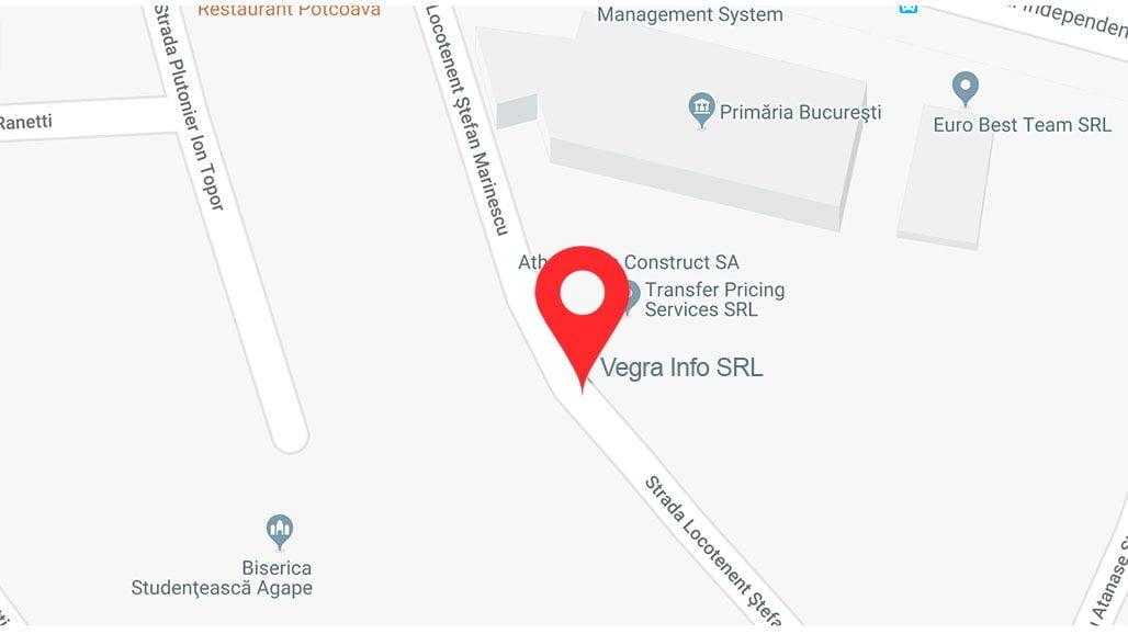 Localizare pe harta Vegra Infor SRL