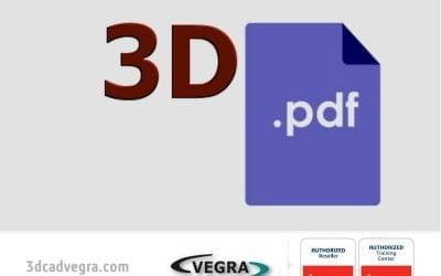 Salvează modelul creat în SOLIDWORKS într-un PDF 3D