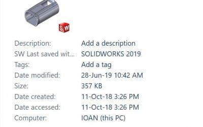 Cum poți vedea versiunea unui fișier SOLIDOWKRS în Windows Explorer