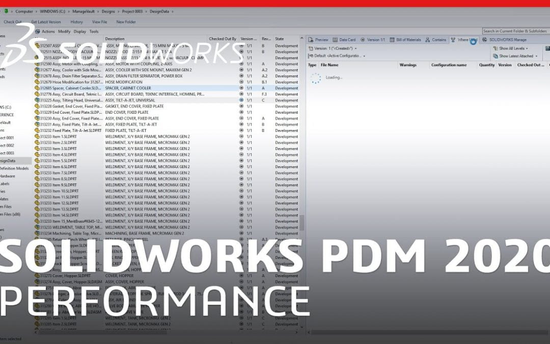 WHAT'S NEW IN SOLIDWORKS 2020 — DATA MANAGEMENT