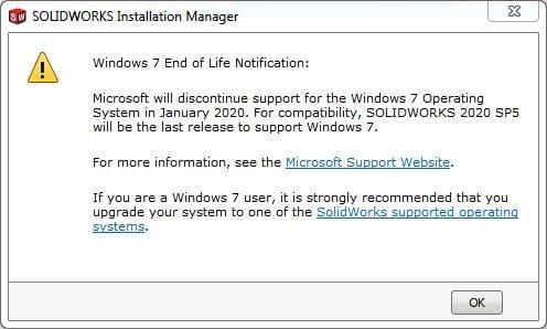 SOLIDWORKS & Windows 7
