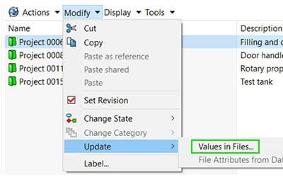 Cum actualizezi valorile variabilelor din Folder Data Card în fișierele aflate în seiful SOLIDWORKS PDM