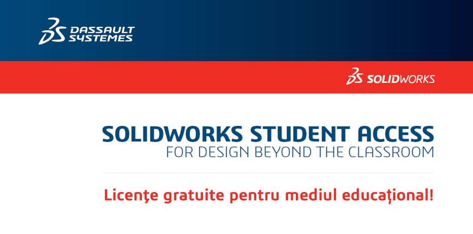 SOLIDWORKS Student Access: licenţe gratuite pentru mediul educațional!
